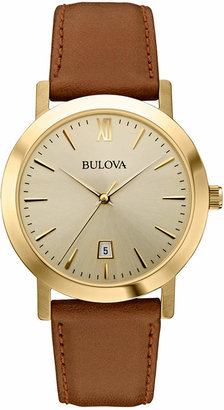 Bulova Unisex Brown Leather Strap Watch 38mm 97B135 $225 thestylecure.com
