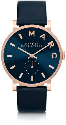 Marc by Marc Jacobs Baker Strap 36mm Navy Blue Women's Watch $195 thestylecure.com