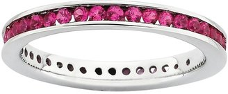 Simply Stacks Sterling Created Ruby Eternity Ring
