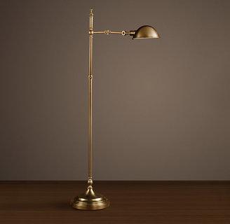 Restoration Hardware Franklin Pharmacy Task Floor Lamp - Antique Brass