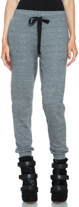 Current/Elliott Moto Cotton-Blend Sweatpant in Heather Grey