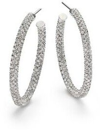 "Adriana Orsini Pavé Crystal Hoop Earrings/1.25"""