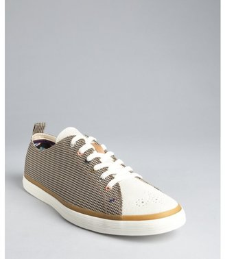 Paul Smith black houndstooth canvas and suede 'Lokai' sneakers