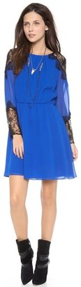 Alice + Olivia Dany Lace Shoulder Dress
