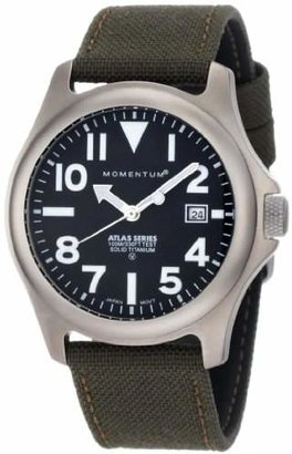 "Momentum Men's 1M-SP00B6G ""Atlas"" Titanium Watch with Brown Canvas Band"