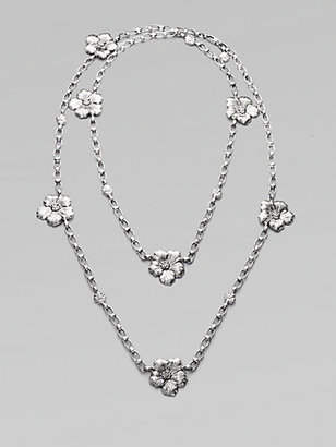 Buccellati Blossom Sterling Silver Station Necklace
