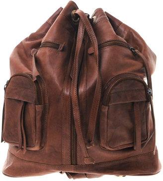 Asos Tan Leather Rucksack