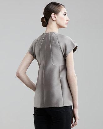 J. Mendel Metallic Cap-Sleeve Jacket