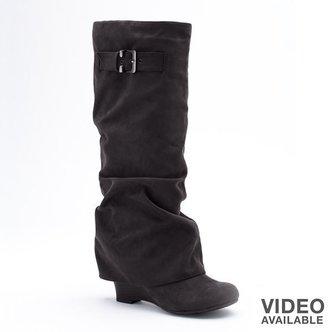 UNIONBAY raquel wedge spat boots - women