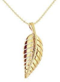Jennifer Meyer Yellow Gold Leaf Necklace