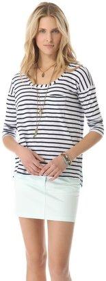 Splendid Miami Stripe Long Sleeve Tee