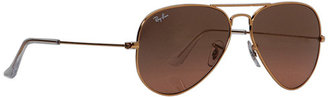Ray-Ban RB3025 Aviator Gradient Large Metal 58mm Sunglasses $160 thestylecure.com