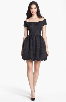 Jessica Simpson Jacquard Fit & Flare Dress