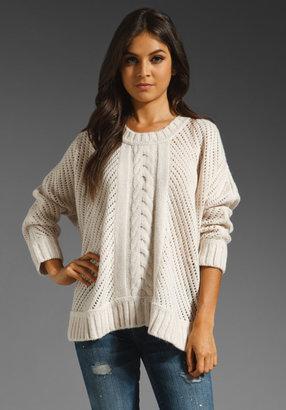 Enza Costa Alpaca Oversize Basketweave Sweater