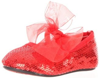 Stuart Weitzman Layette Baby Bling Ballet Flat (Infant/Toddler)