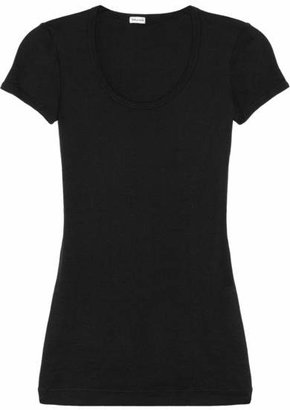 Splendid - Supima Cotton And Modal-blend Jersey T-shirt - Black $65 thestylecure.com