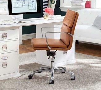 Pottery Barn Nash Leather Swivel Desk Chair