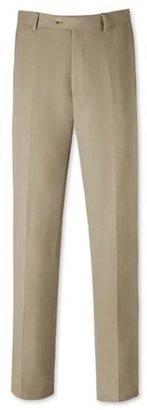 Charles Tyrwhitt Stone silk linen classic fit summer suit pants