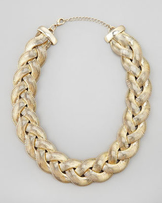 Cara Accessories Braided Chain Necklace