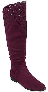 JCPenney Liz & Co.® Eppie Lasercut Over-the-Knee Boots