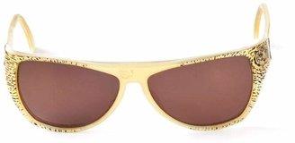 Krizia Pre-Owned oval frame sunglasses
