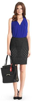 Diane von Furstenberg Mae Knit Pencil Skirt
