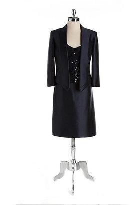 Tahari ARTHUR S. LEVINE Three-Piece Sequined Skirt Suit