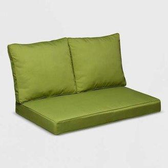 Grand Basket Belmont 3pc Wicker Loveseat Replacement Cushion Set Green