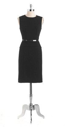 Calvin Klein Belted Peplum Dress