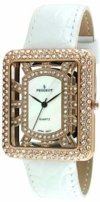 Peugeot Women's Analog Display Japanese Quartz White Watch