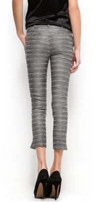 MANGO Cropped jacquard trousers