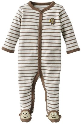 Carter's striped monkey footed pajamas - baby