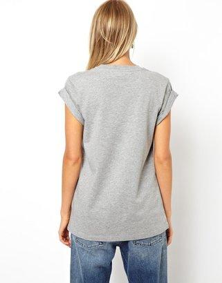 Asos Boyfriend T-Shirt with Roll Sleeve