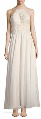 Xscape Evenings Lace Bodice Chiffon Gown