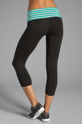 So Low Stripe Fold Over Crop Legging