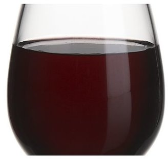 Crate & Barrel Acrylic Stemless Wine Glass