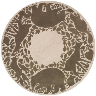 DwellStudio Woodland Tumble Round Rug - 5 x 5