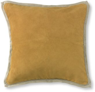 Williams-Sonoma Suede Pillow Cover with Linen Backing, Butter