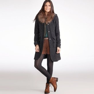 Active Wear Coat with Faux Fur Collar