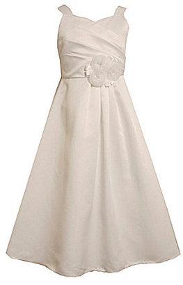Bonnie Jean 7-12 Crossover-Bodice Dress