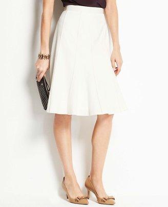 Ann Taylor Petite Flounce Crepe Skirt