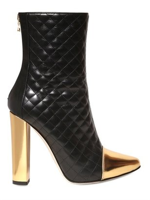 Balmain 110mm Quilted Leather Boots