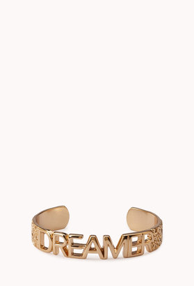 Forever 21 Dreamer Etched Floral Cuff