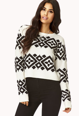 Forever 21 Cropped Boho Sweater