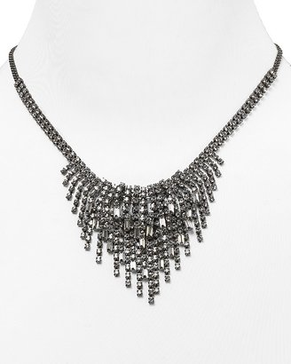 """Cara Accessories Short Layer Drop Crystal Cluster Necklace, 16"""""""