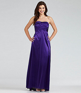 Masquerade Strapless Cutout Gown