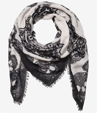 Express Studded Skull Square Scarf