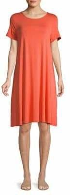 Lord & Taylor Short-Sleeve Stretch T-Shirt Dress