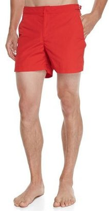 Orlebar Brown Setter Short-Length Swim Trunks, Red $230 thestylecure.com