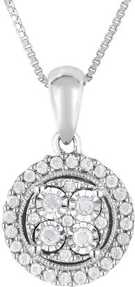 FINE JEWELRY TruMiracle 1/4 CT. T.W. Diamond Sterling Silver Round Pendant Necklace $324.98 thestylecure.com